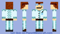 BlueSuit Nerd Minecraft Skin