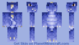 Blue Dinosaur [3D features] Minecraft Skin