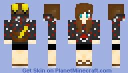 ~Satoru~ Pikachu Hoodie Girl Minecraft Skin