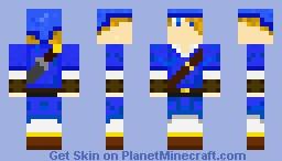Blue Link (Legend Of Zelda) Minecraft Skin