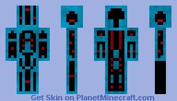 RoBo-TrOn Minecraft Skin