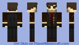 Booker Dewitt (Bioshock Infinite) Minecraft Skin