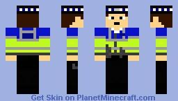 British PCSO (high-vis)(OLD) Minecraft Skin