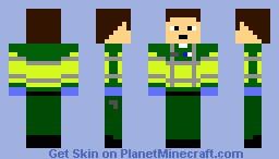 Paramedic (high-Vis Jacket) Minecraft Skin