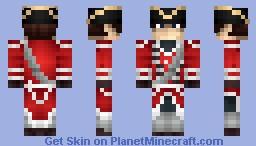 British Redcoat Minecraft Skin