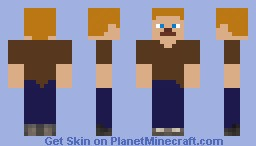 Brown T-Shirt Minecraft Skin