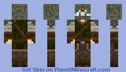 Hooded Elven Archer (Brown Hair) Minecraft Skin