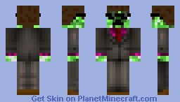 Businessman Creeper Minecraft Skin