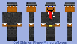 Business Cake with a Hat Minecraft Skin