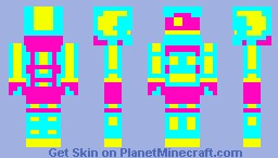 CMYK Astronaut [dat 3 color skin contest] Minecraft Skin