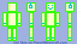 COULOR ROBOT! (GREEN) Minecraft Skin