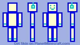 COULOR ROBOT! (BLUE) Minecraft Skin