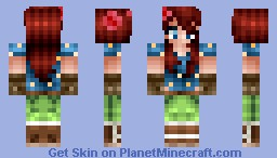 Garden girl -  MyMagic12's contest entry! Minecraft Skin