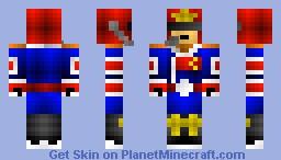1990 Captain Falcon Minecraft Skin