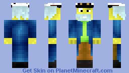 Captain McAllister from the Simpsons ( requested by BubbleBeard ) Minecraft Skin