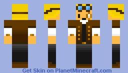 King_Steamer! (Steampirate Captain) Minecraft Skin