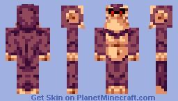 Attitude Ape (10-color skin with spunk!) [  Bonus Skin] Minecraft Skin