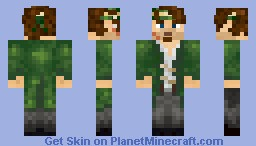 A green Pirate Minecraft Skin