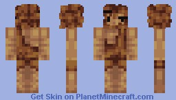 My Version of Banana's Caveman! (9 Colour Skin Challenge) with hghost1234 Minecraft Skin