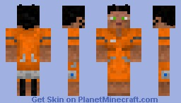 Chell from Portals [3D parts] (awesome shading) -Skin Request- Minecraft Skin