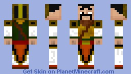 Ancient Chinese Warrior Minecraft Skin