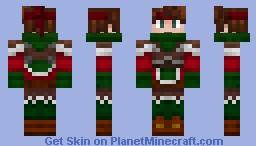 Christmas themed hero Minecraft