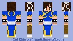 Chun-Li Street Fighter Minecraft Skin
