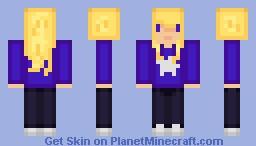 Girl with blonde hair Minecraft