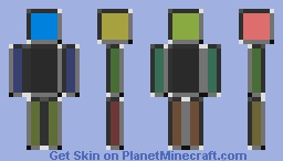 Color's in a Box -Carrotts- Minecraft Skin
