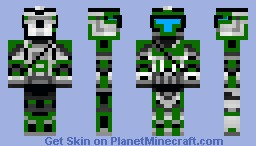 Commander gree in scout armor Minecraft Skin