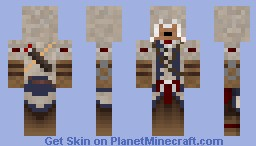 Connor Kenway (assassins creed 3) Minecraft Skin