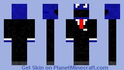 Cookie monster in suit Minecraft Skin