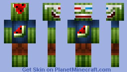 Cool Melon 3D Minecraft Skin