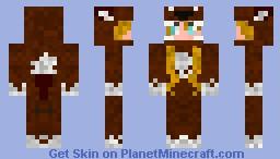 Girl in wolf costume (request) Minecraft Skin