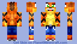 -=CRASH BANDICOOT=- *UPDATED* Minecraft Skin