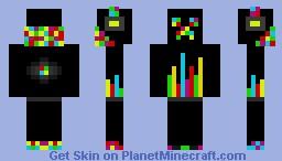 Disco Creeper Minecraft Skin
