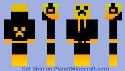 Creeper DJ Yellow ( CreeperLandGaming ) Minecraft Skin