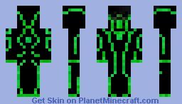 Creeper (Tron- Green) Minecraft Skin