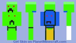 Creeper MAN Minecraft Skin