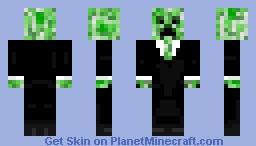 Creeper in a tux Minecraft Skin