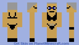 Creepy old dude that lives in  your closet Minecraft Skin