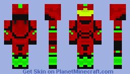 Red Christmas spartan Minecraft Skin
