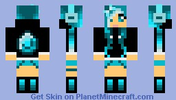 Cute Diamond Hoodie Girl 20 Diamond Special Minecraft Skin