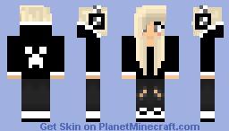 Cute Minecraft Girl Skins With Hoodie And Headphones