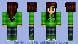 ♥ŦlยŦŦץ_кเttץ♥ ~ Crepper Girl. Shading Test? ~Skin for Demonsnake101 Minecraft Skin