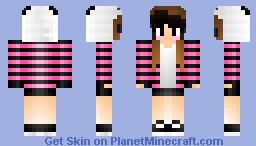 some random Panda Girl   Shading Test... it's Amazing! Minecraft Skin