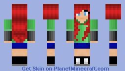 A more advanced redo of my first skin I uploaded Minecraft Skin