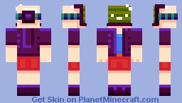 CyberBoy, face freak accident case Minecraft Skin