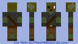 Goblin with robo head Minecraft Skin