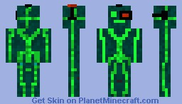[3D Features] Futuristic Cyborg Robot Minecraft Skin